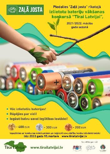 Tīrai Latvijai 2021 - baterijas